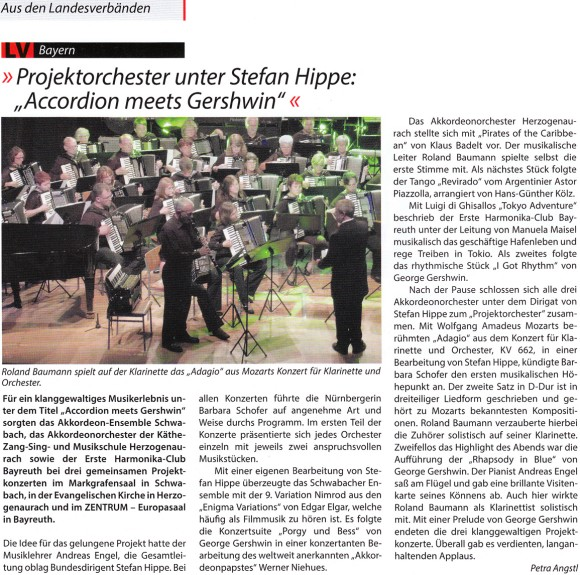 Bericht Accordion meets Gershwin